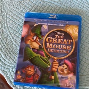 Like new! The Great Mouse Detective, 2 disc combo!